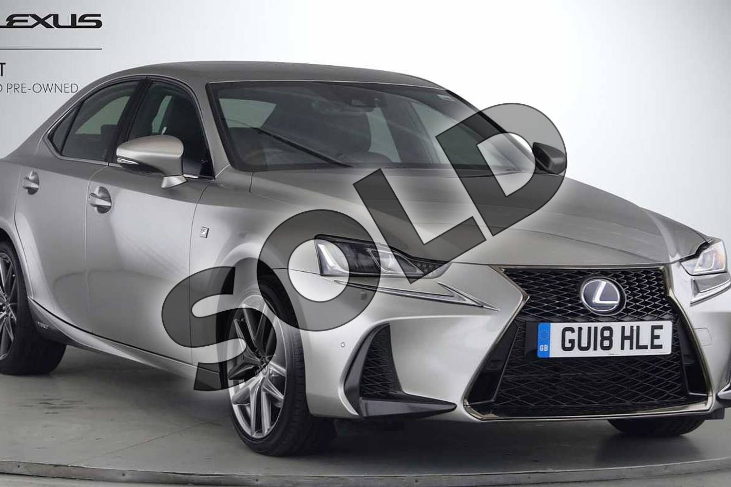 2018 Lexus IS Saloon 300h F-Sport 4dr CVT Auto in Silver at Lexus Lincoln