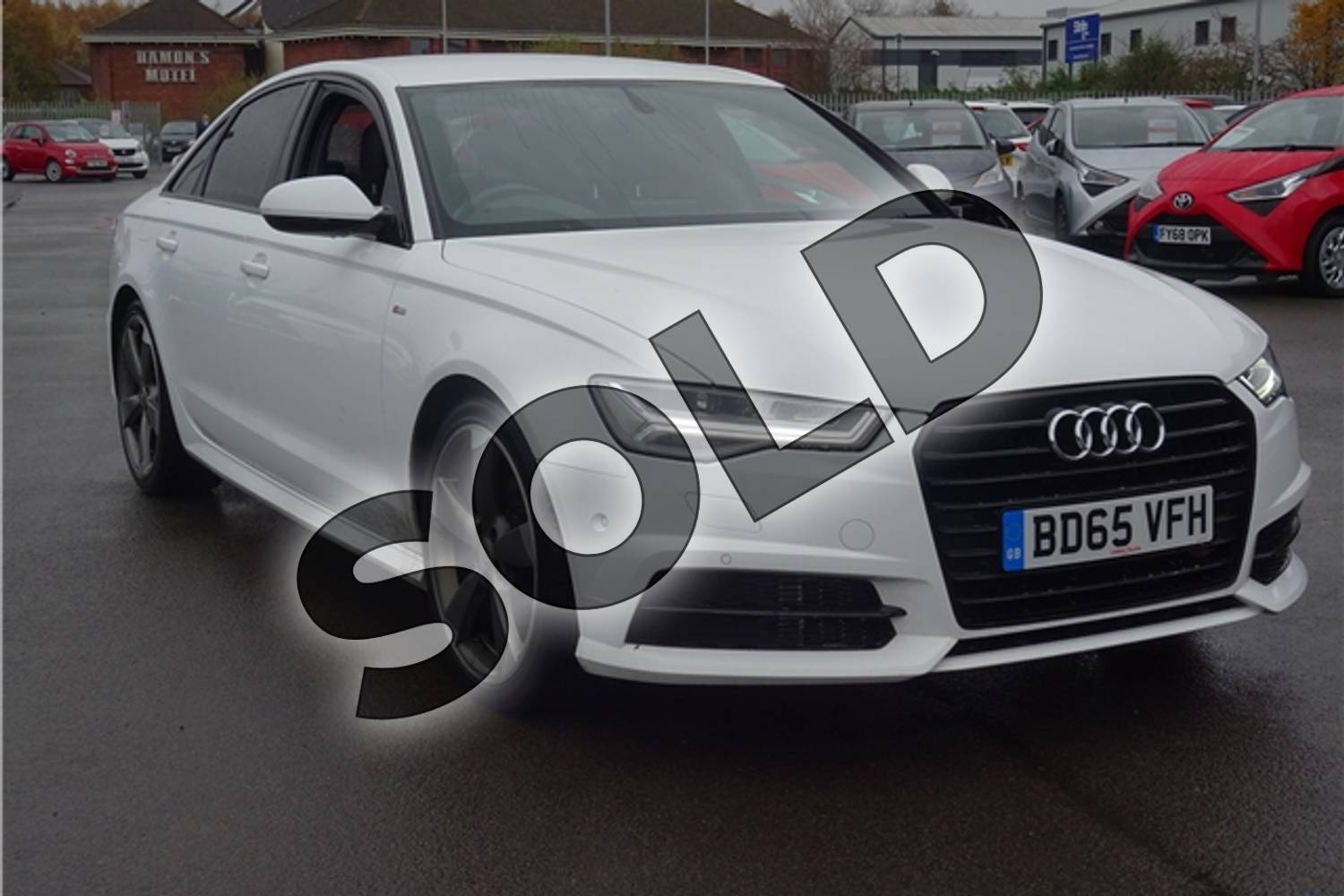2015 Audi A6 Saloon Special Editions 2.0 TDI Ultra Black Edition 4dr in Solid - Ibis white at Listers Toyota Lincoln