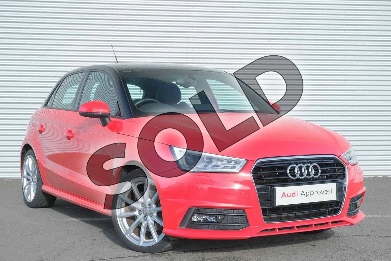 2015 Audi A1 Diesel Sportback 1.6 TDI S Line 5dr in Misano Red, pearl effect at Coventry Audi