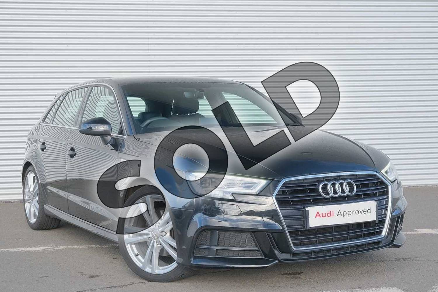 2018 Audi A3 Sportback 35 TFSI S Line 5dr S Tronic in Myth Black Metallic at Coventry Audi