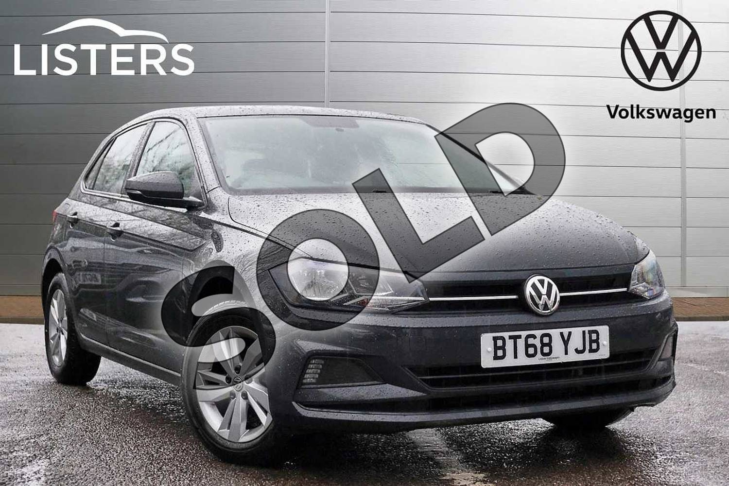 2018 Volkswagen Polo Hatchback 1.0 TSI 95 SE 5dr in Urano Grey at Listers Volkswagen Leamington Spa