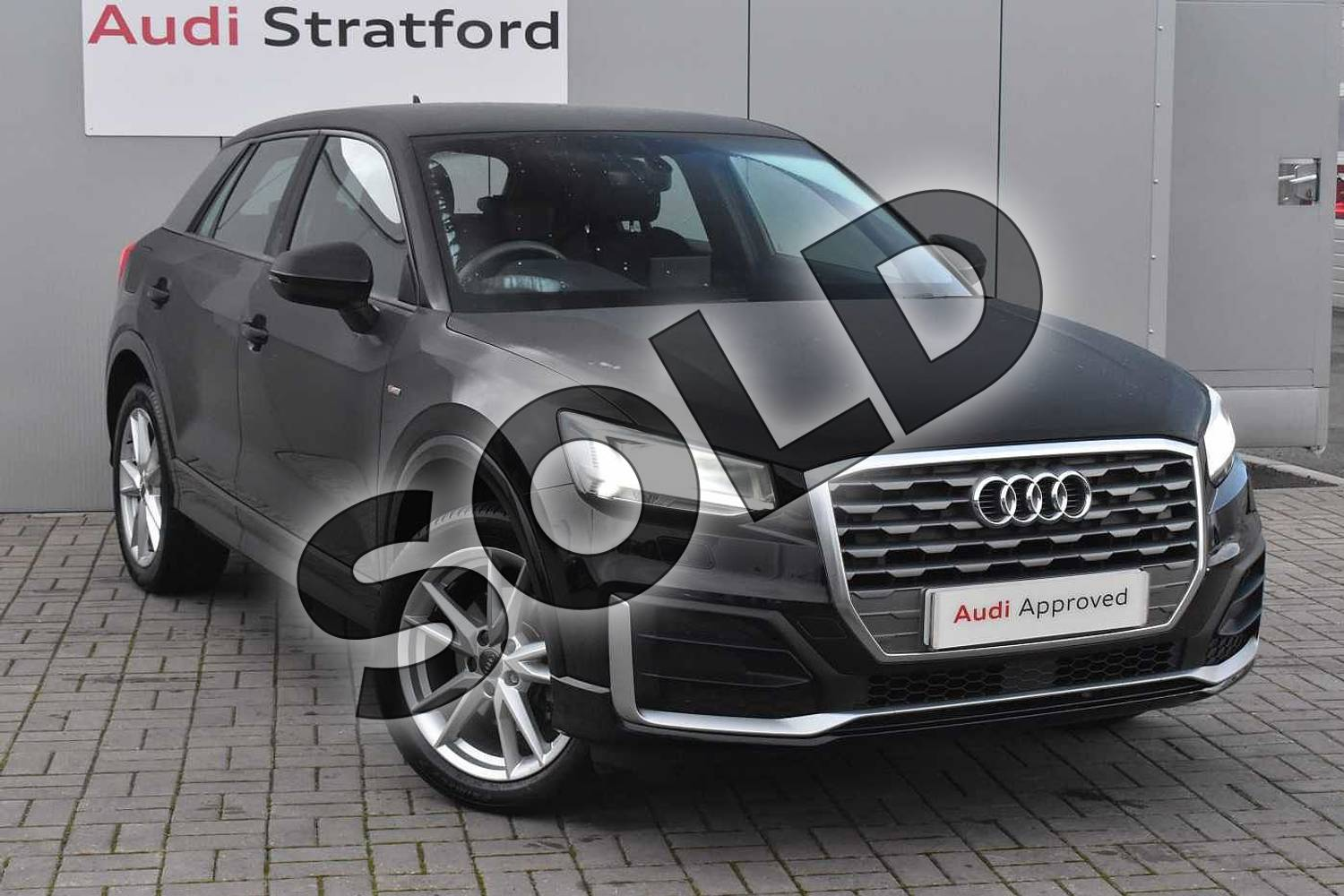 2018 Audi Q2 Diesel Estate 30 TDI S Line 5dr in Myth Black Metallic at Stratford Audi