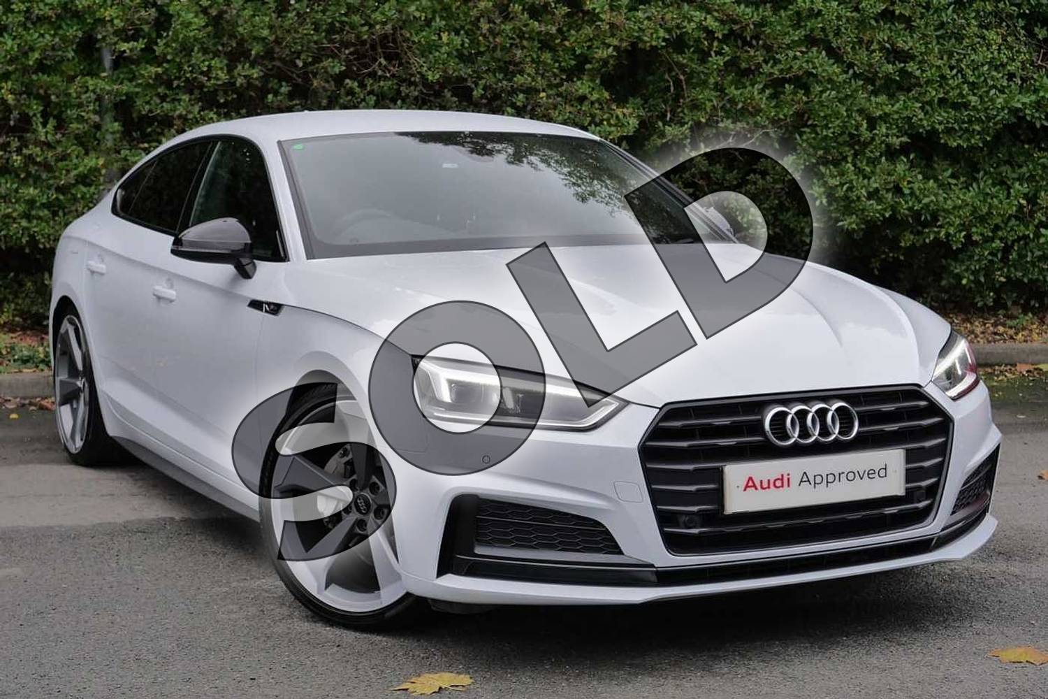 2019 Audi A5 Diesel Sportback 40 TDI Black Edition 5dr S Tronic in Glacier White Metallic at Worcester Audi
