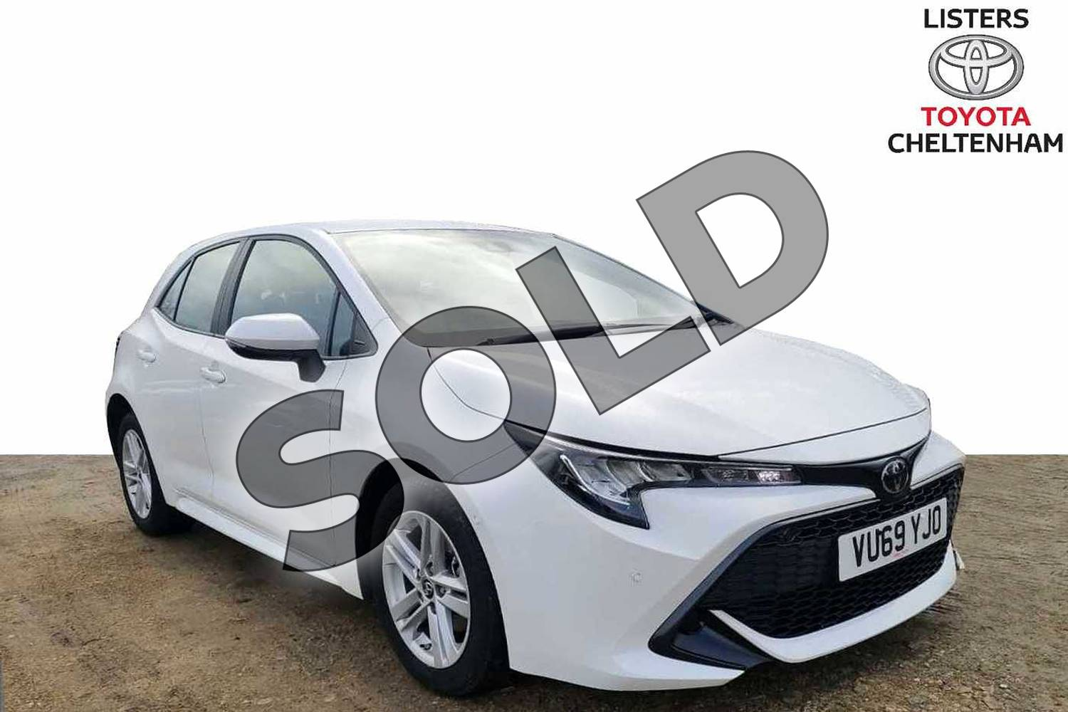 2019 Toyota Corolla Hatchback 1.2T VVT-i Icon Tech 5dr in Pure White at Listers Toyota Cheltenham