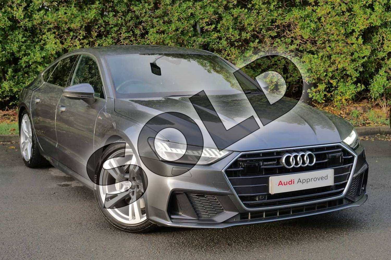 2018 Audi A7 Diesel Sportback 50 TDI Quattro S Line 5dr Tip Auto in Daytona Grey Pearlescent at Worcester Audi