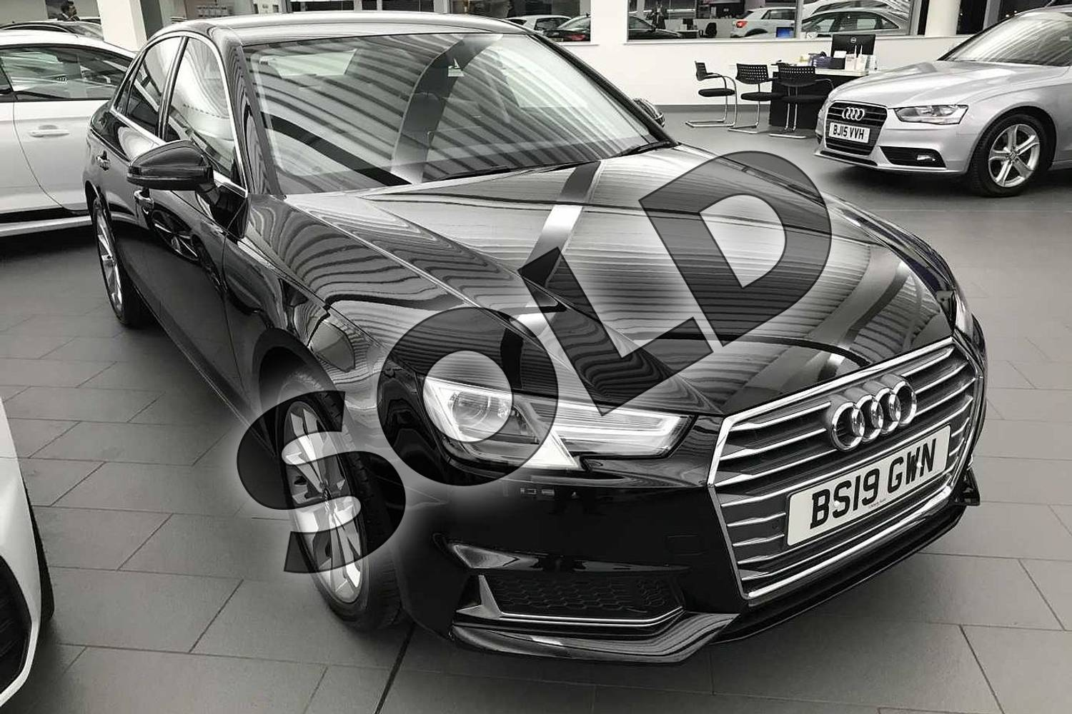 2019 Audi A4 Diesel Saloon 35 TDI Sport 4dr S Tronic in Brilliant Black at Birmingham Audi