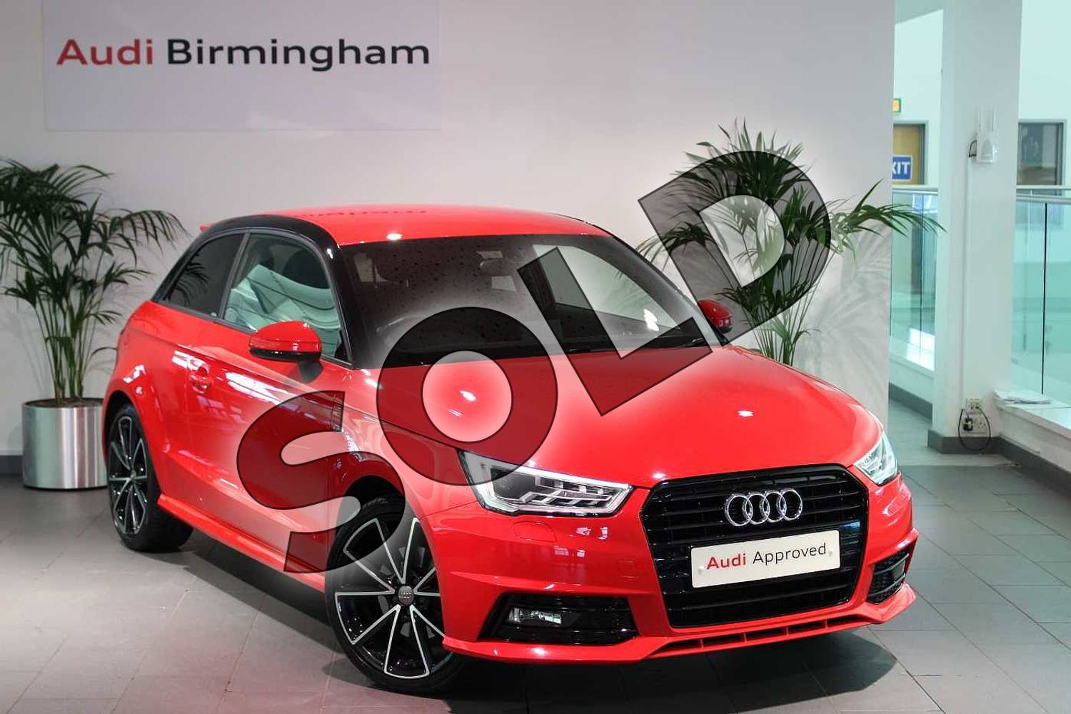 2016 Audi A1 Hatchback Special Editions 1.6 TDI Black Edition 3dr in Misano Red Pearlescent at Birmingham Audi