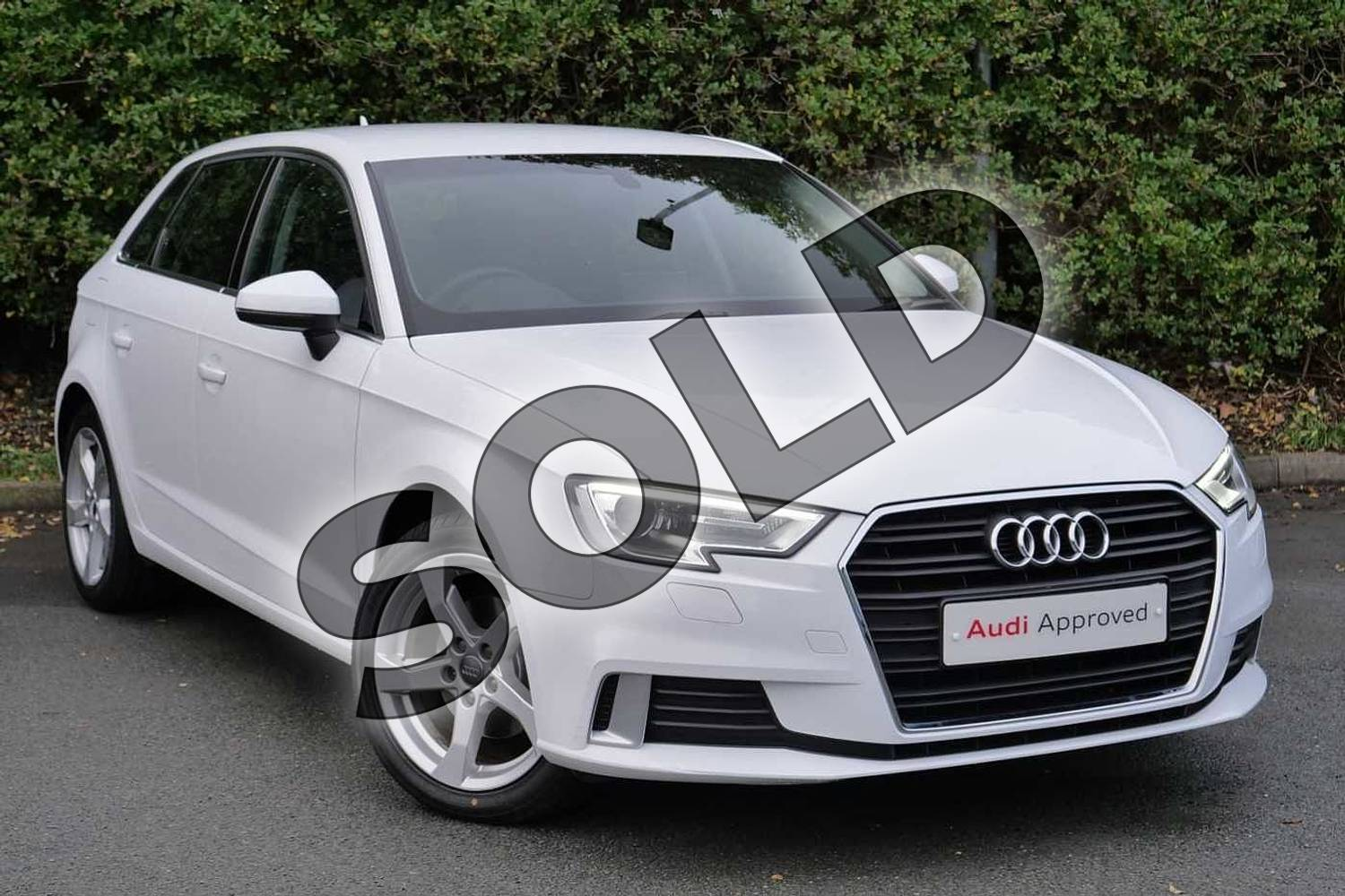 2018 Audi A3 Sportback 1.5 TFSI Sport 5dr S Tronic in Ibis White at Worcester Audi