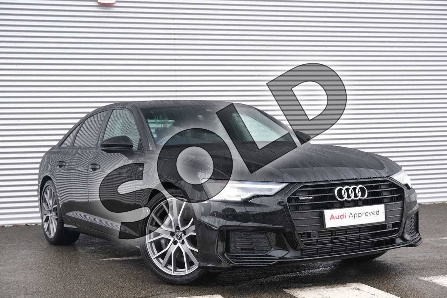 2020 Audi A6 Saloon 50 TFSI e Quattro Black Edition 4dr S Tronic in Myth Black Metallic at Coventry Audi