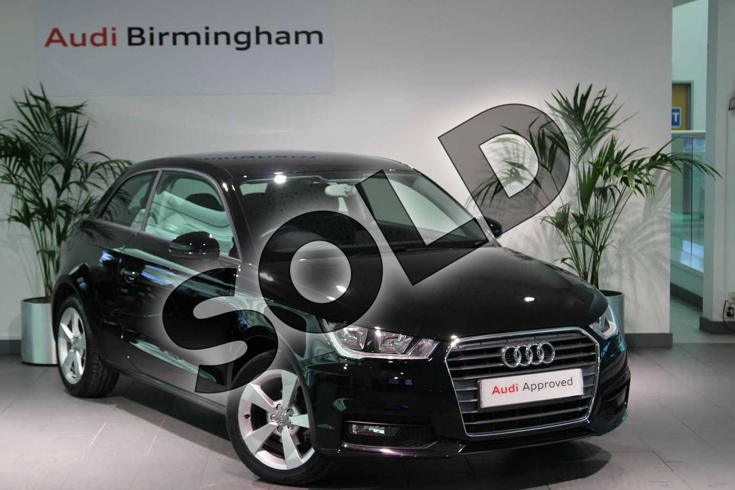 2018 Audi A1 Hatchback 1.0 TFSI Sport Nav 3dr in Myth Black Metallic at Birmingham Audi