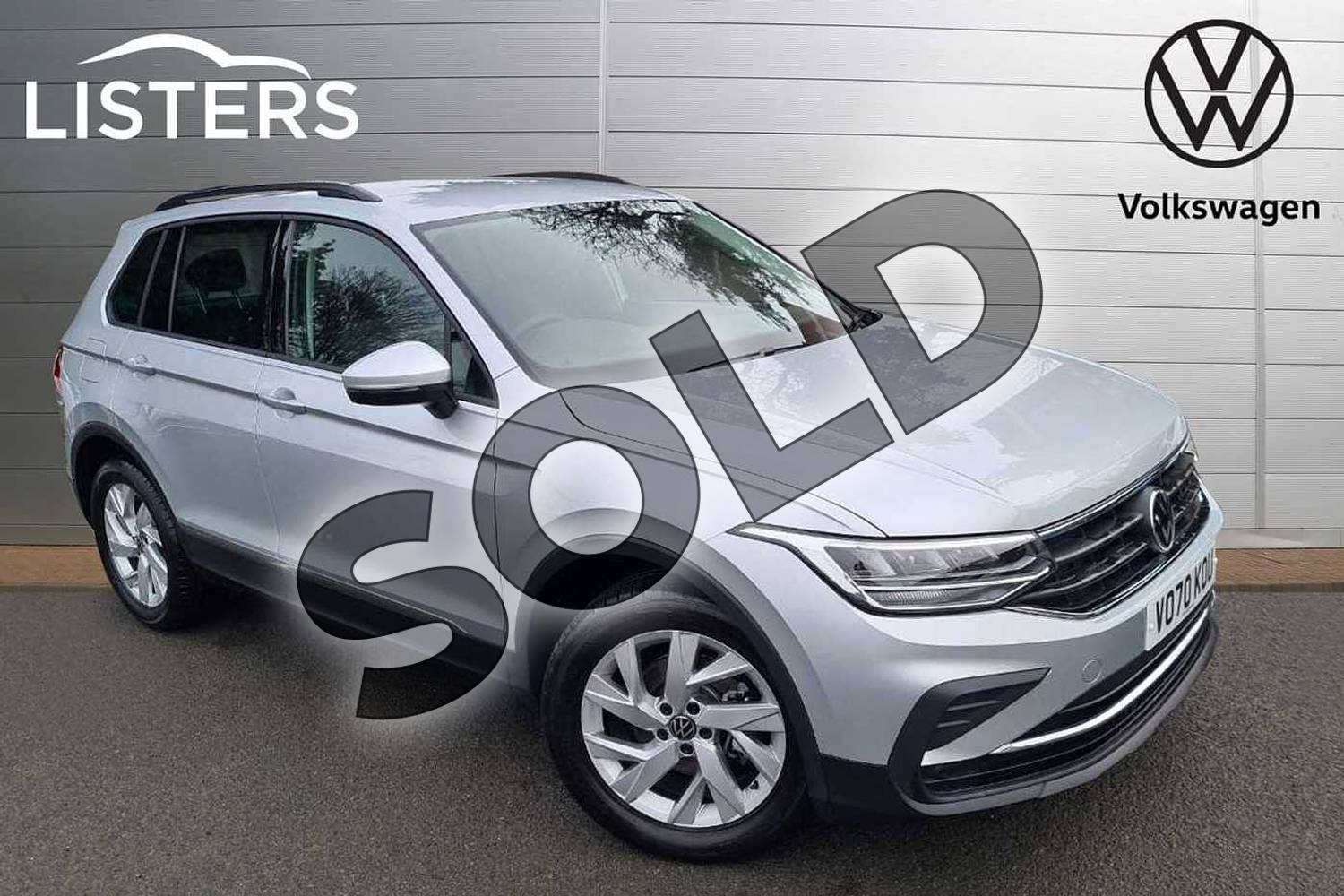 2021 Volkswagen Tiguan Estate 1.5 TSI 150 Life 5dr DSG in Silver at Listers Volkswagen Worcester
