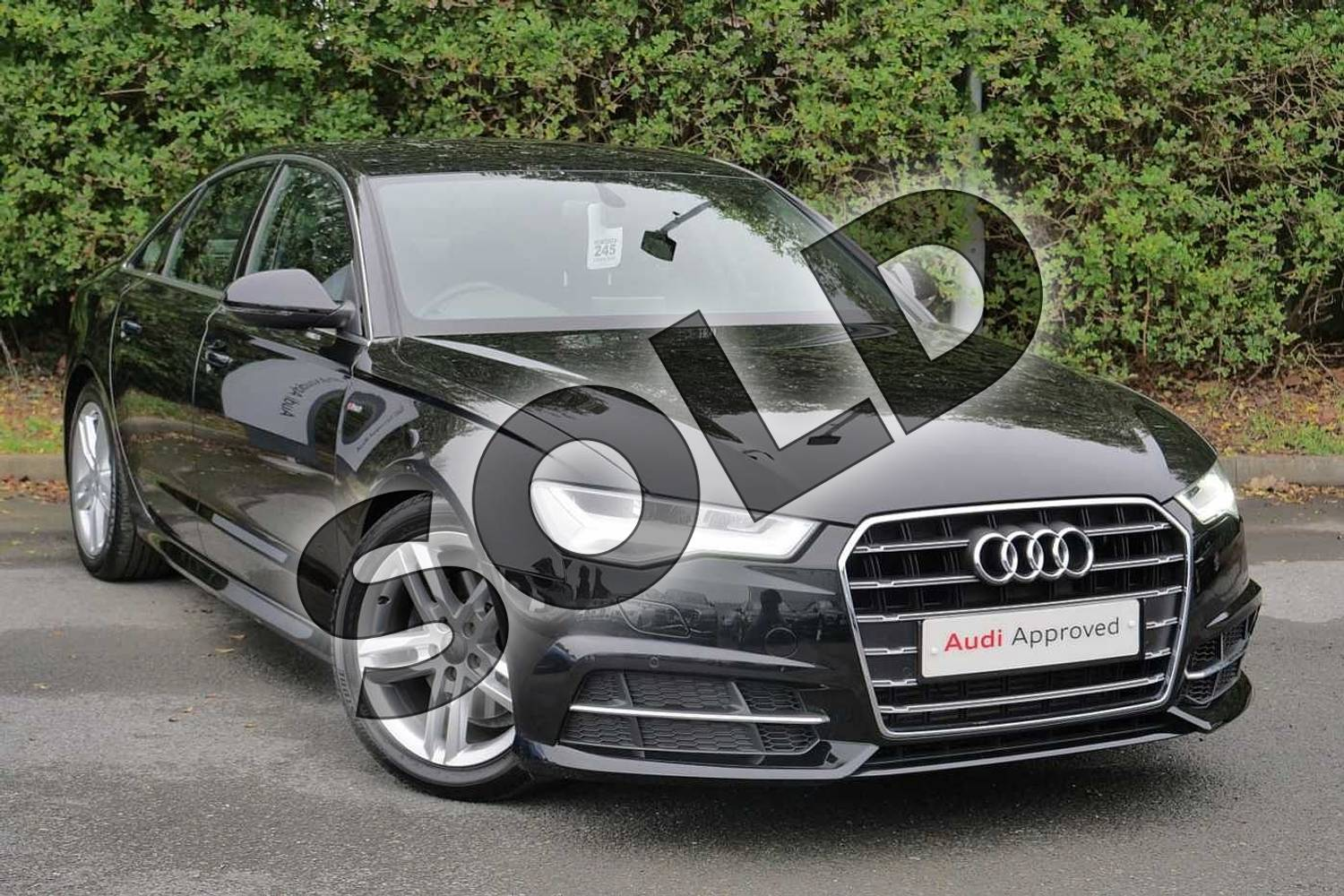 2018 Audi A6 Saloon 1.8 TFSI S Line 4dr S Tronic in Myth Black Metallic at Worcester Audi