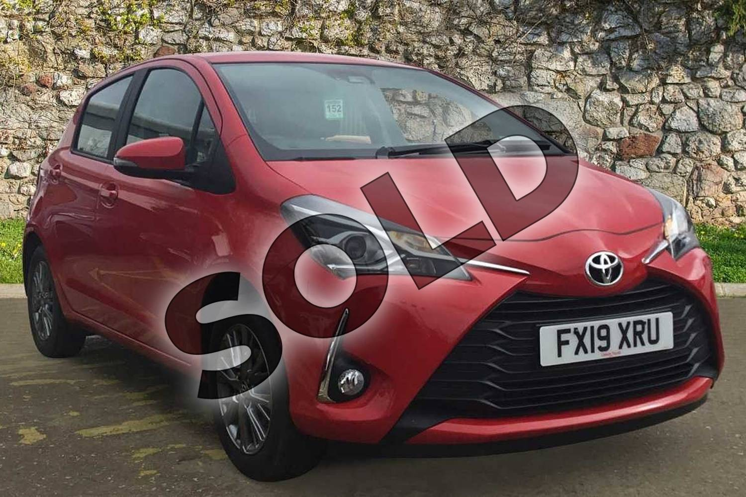 2019 Toyota Yaris Hatchback 1.0 (72) VVT-i Icon 5dr in Chilli Red at Listers Toyota Boston