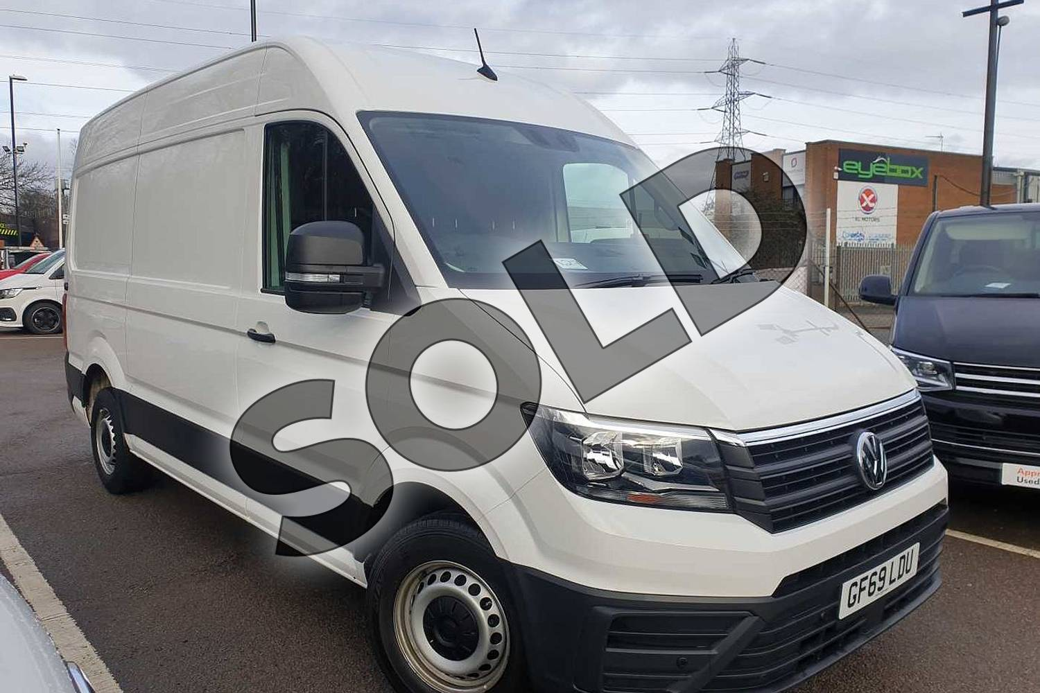 2019 Volkswagen Crafter CR35 MWB Diesel 2.0 TDI 177PS Trendline High Roof Van in White at Listers Volkswagen Van Centre Coventry
