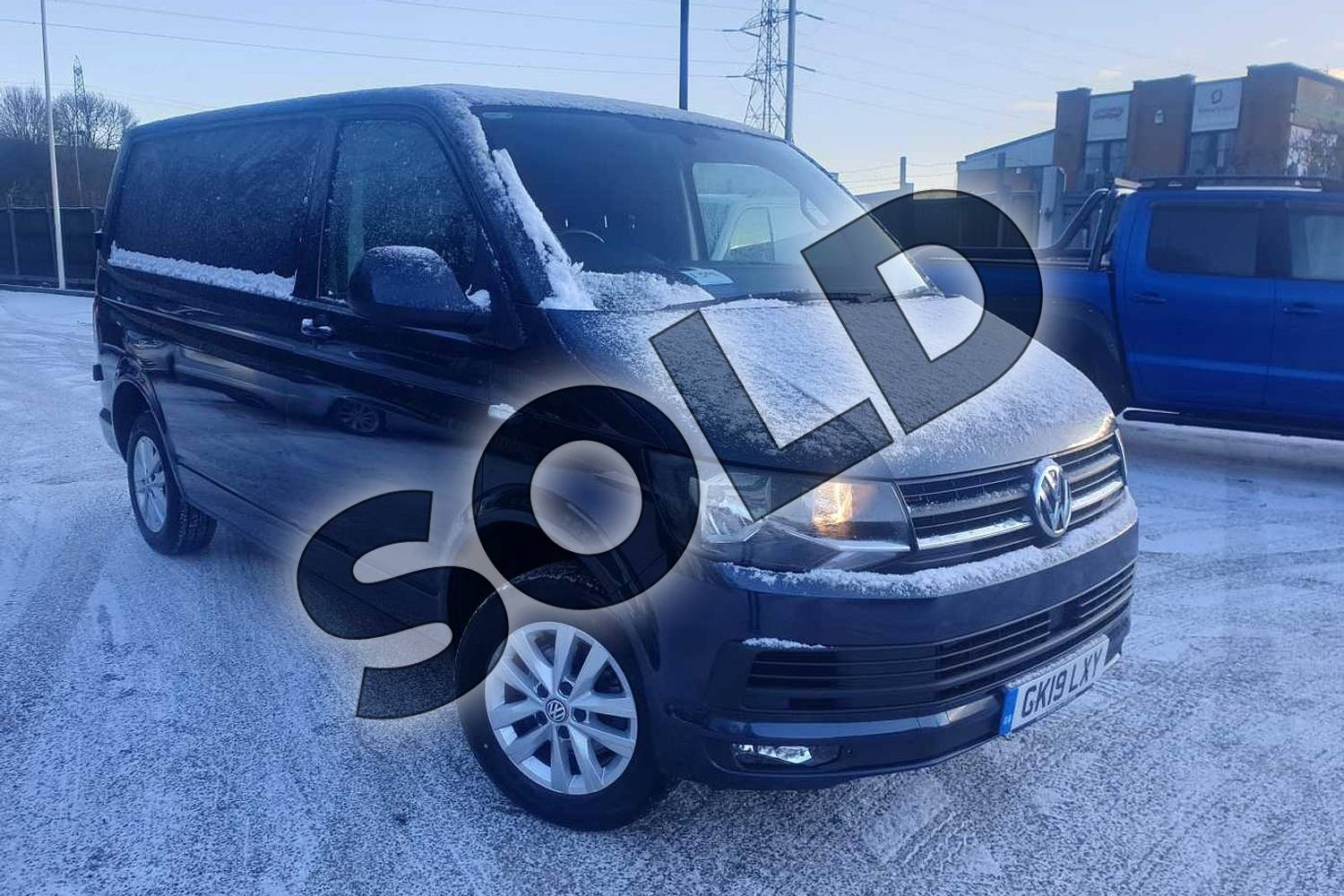2019 Volkswagen Transporter T28 SWB Diesel 2.0 TDI BMT 150 Highline Van DSG in Blue at Listers Volkswagen Van Centre Coventry