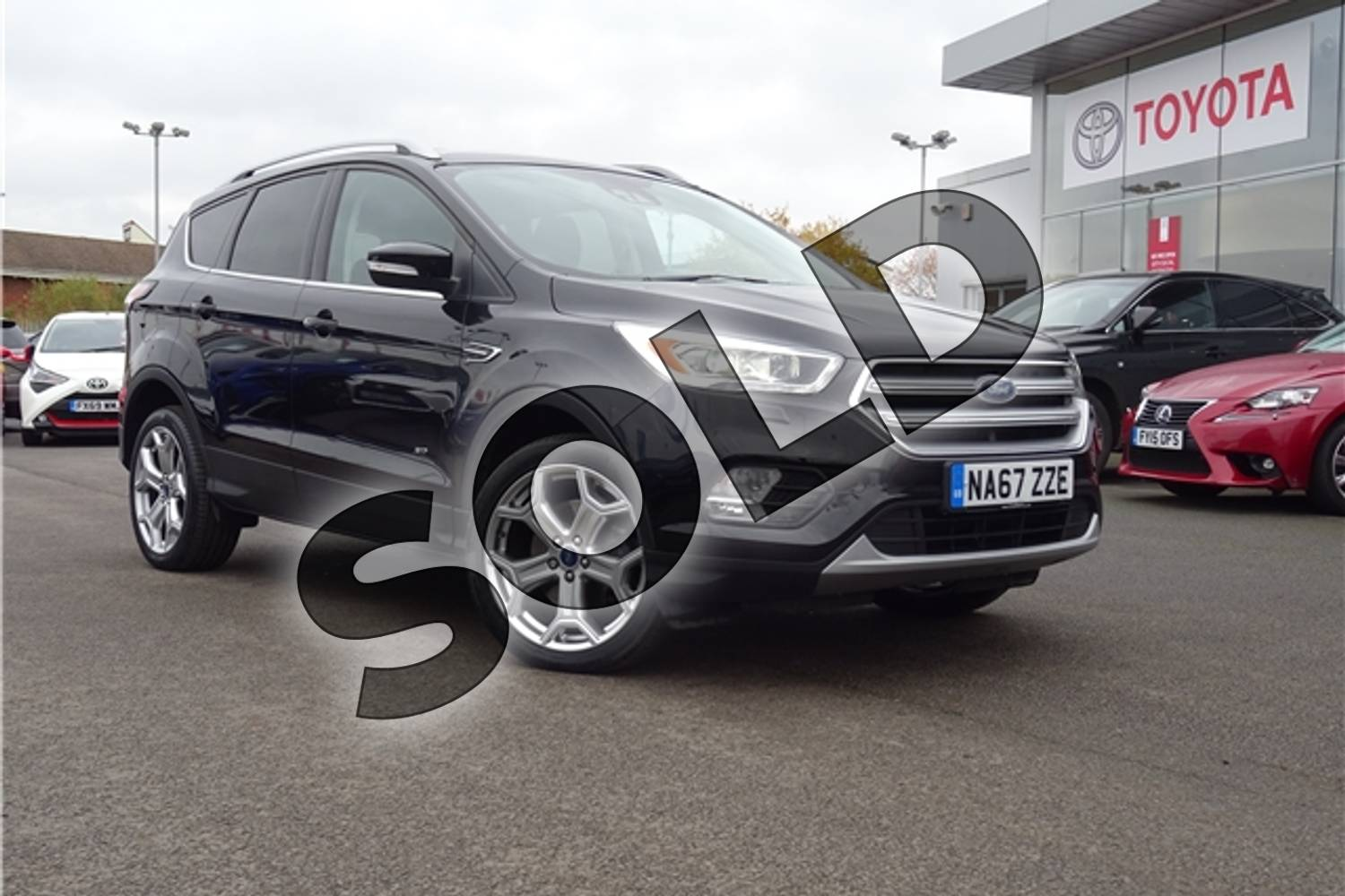 2018 Ford Kuga Diesel Estate 2.0 TDCi 180 Titanium X 5dr Auto in Metallic - Shadow black at Listers Toyota Grantham