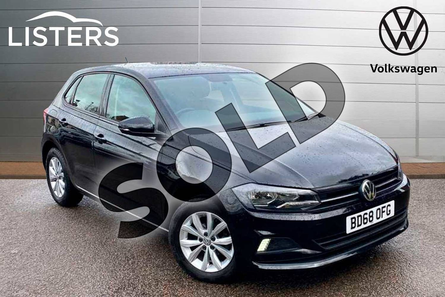 2018 Volkswagen Polo Hatchback 1.0 TSI 95 SE 5dr in Deep Black Pearl Effect at Listers Volkswagen Coventry