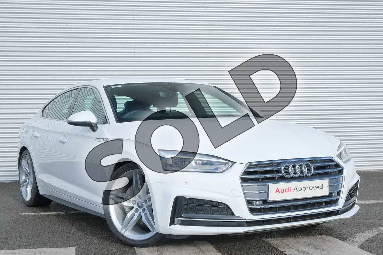 2018 Audi A5 Diesel Sportback 40 TDI S Line 5dr S Tronic in Ibis White at Coventry Audi