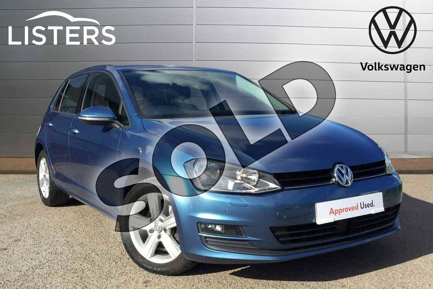 2016 Volkswagen Golf Hatchback 1.4 TSI 125 Match Edition 5dr in Pacific Blue at Listers Volkswagen Loughborough