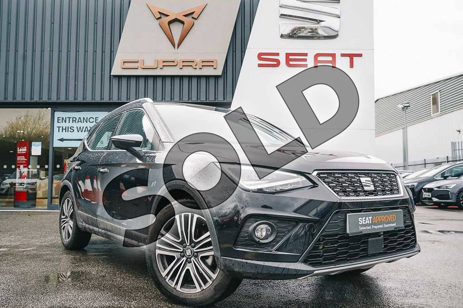 2020 SEAT Arona Hatchback 1.0 TSI 115 Xcellence (EZ) 5dr DSG in Black at Listers SEAT Coventry