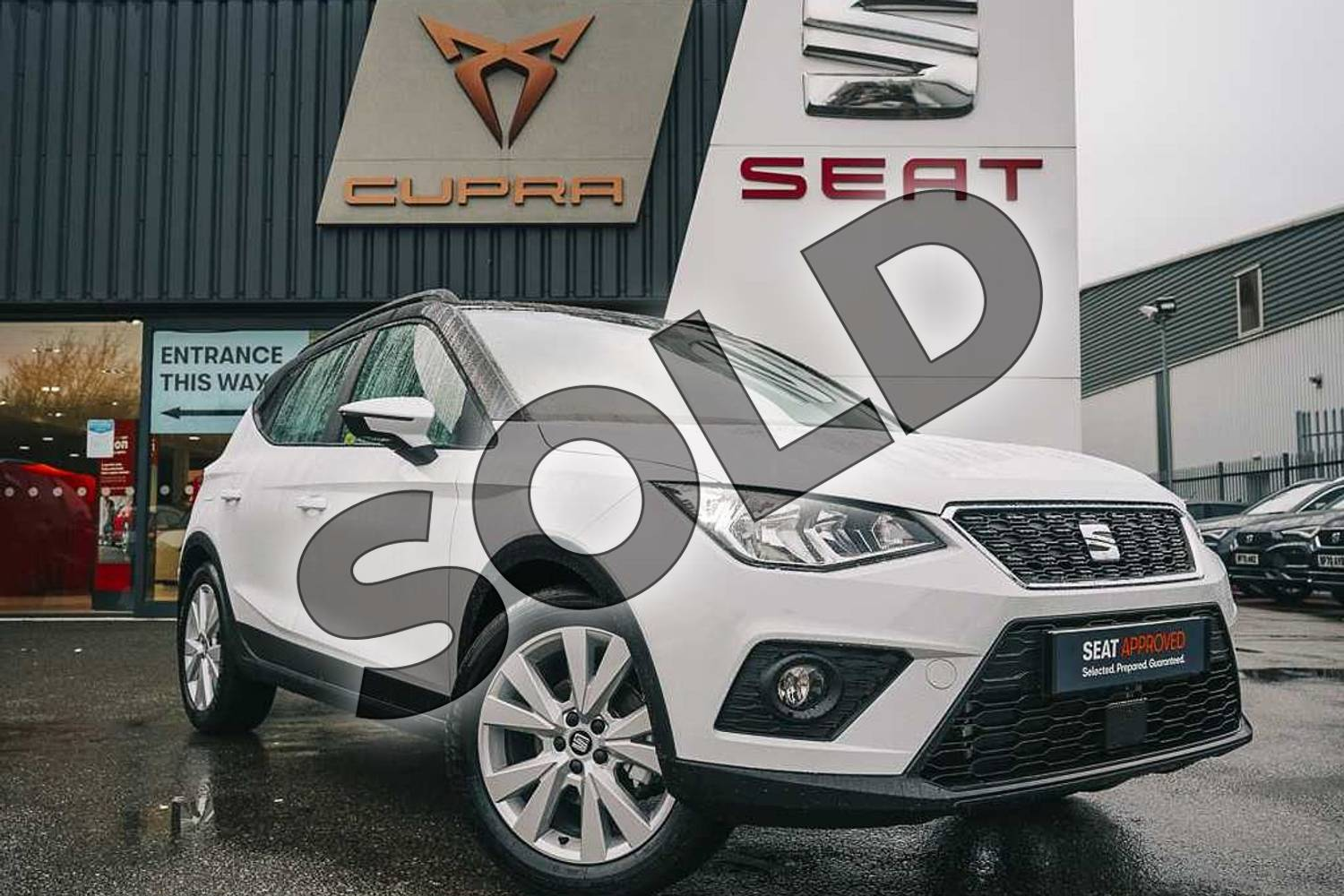 2021 SEAT Arona Hatchback 1.0 TSI 110 SE Technology (EZ) 5dr DSG in White at Listers SEAT Coventry