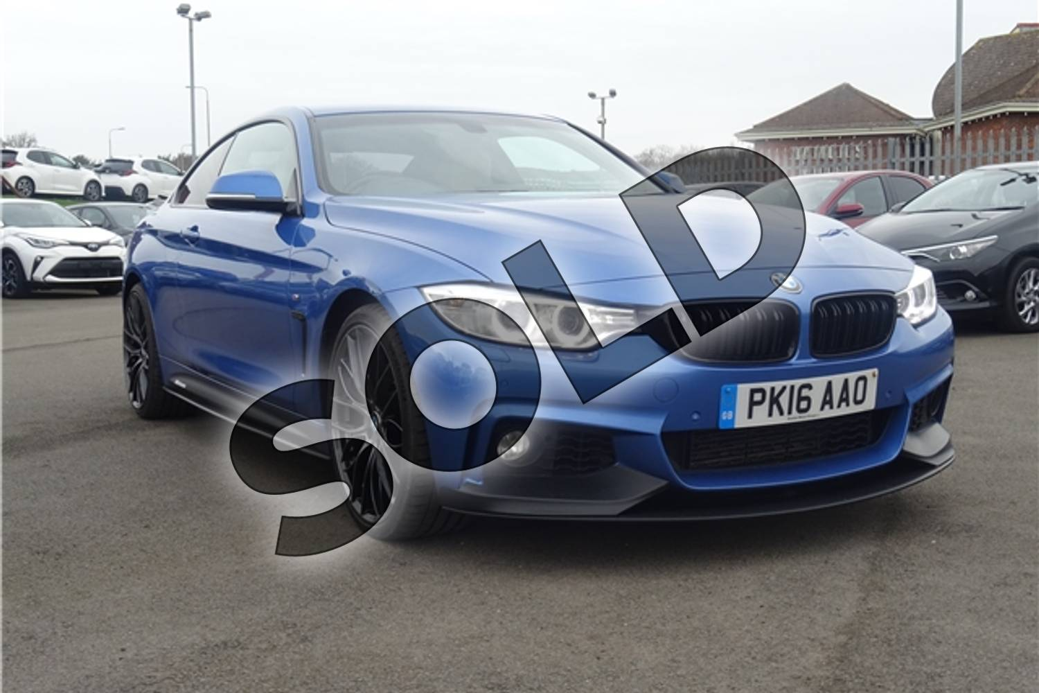 2016 BMW 4 Series Diesel Coupe 435d xDrive M Sport 2dr Auto (Professional Media) in Individual paint - Tanzanite blue at Listers Toyota Lincoln