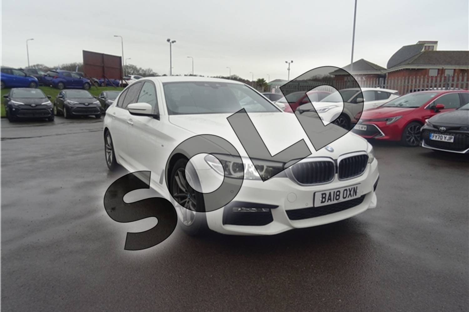 2018 BMW 5 Series Diesel Saloon 520d M Sport 4dr Auto in Solid - Alpine white at Listers Toyota Lincoln