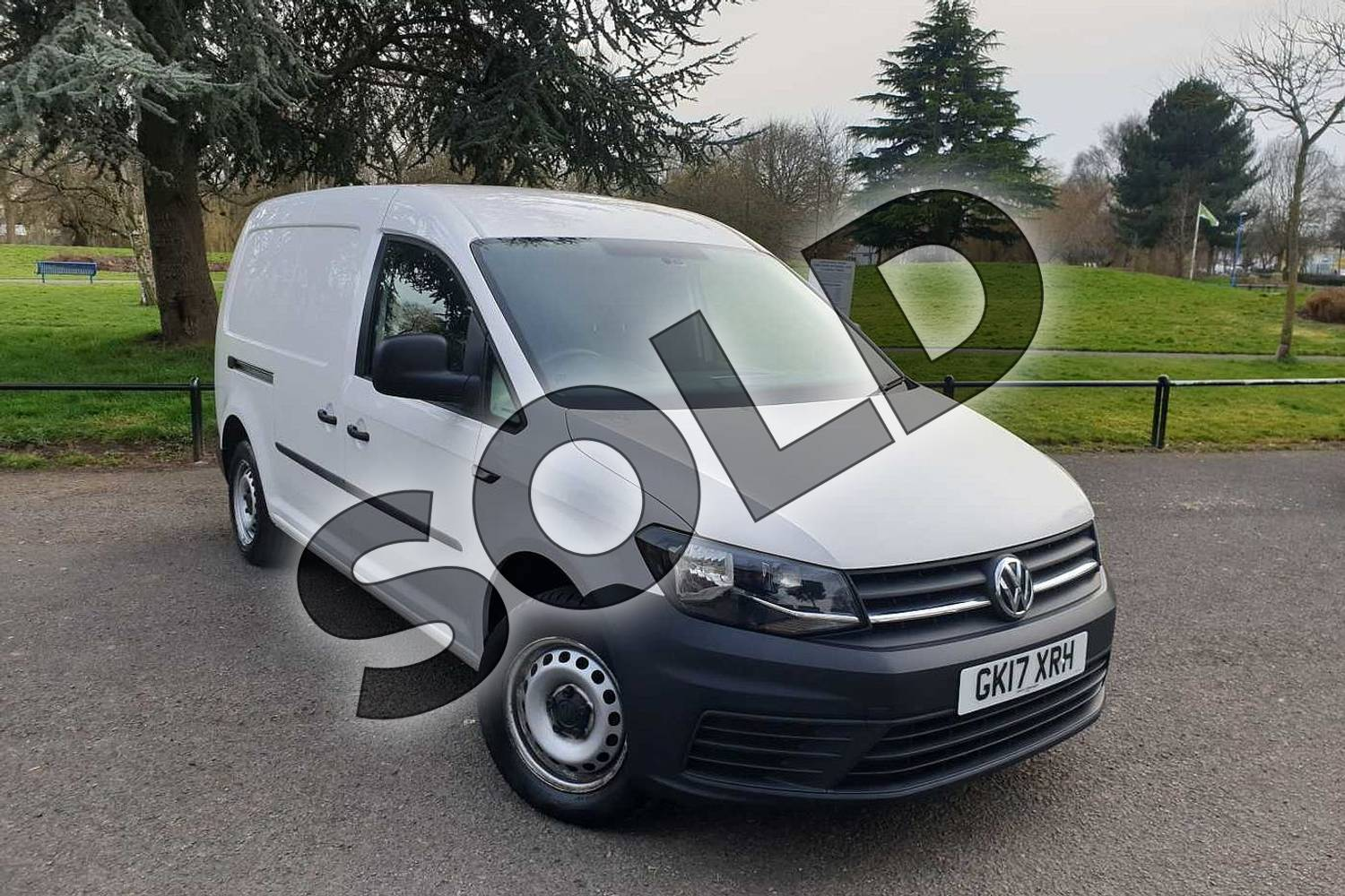 2017 Volkswagen Caddy Maxi C20 Diesel 2.0 TDI BlueMotion Tech 102PS Startline Van in White at Listers Volkswagen Van Centre Coventry