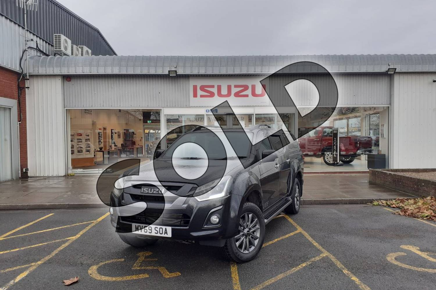 2019 Isuzu D-MAX Diesel 1.9 Blade Double Cab 4x4 in Black at Listers Isuzu Worcester