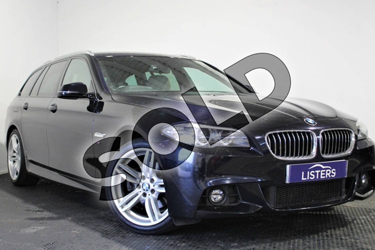 2014 BMW 5 Series Diesel Touring 520d M Sport 5dr Step Auto in Metallic - Carbon black at Listers U Stratford-upon-Avon