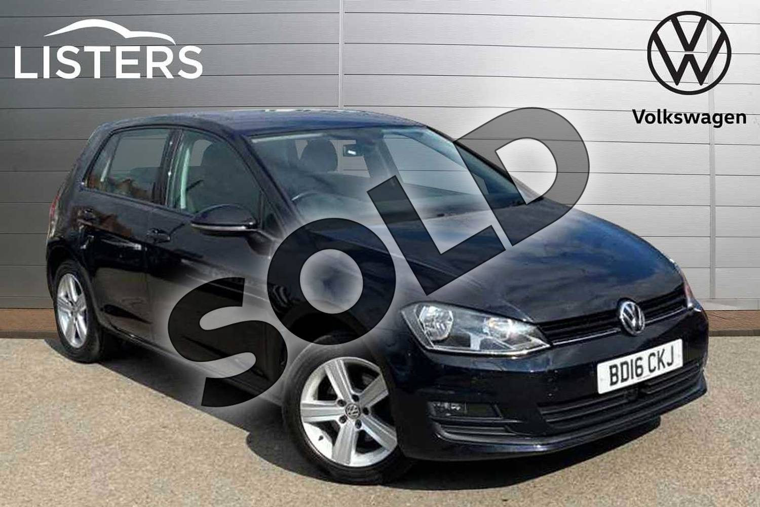 2016 Volkswagen Golf Diesel Hatchback 2.0 TDI Match Edition 5dr in Deep Black Pearl Effect at Listers Volkswagen Coventry
