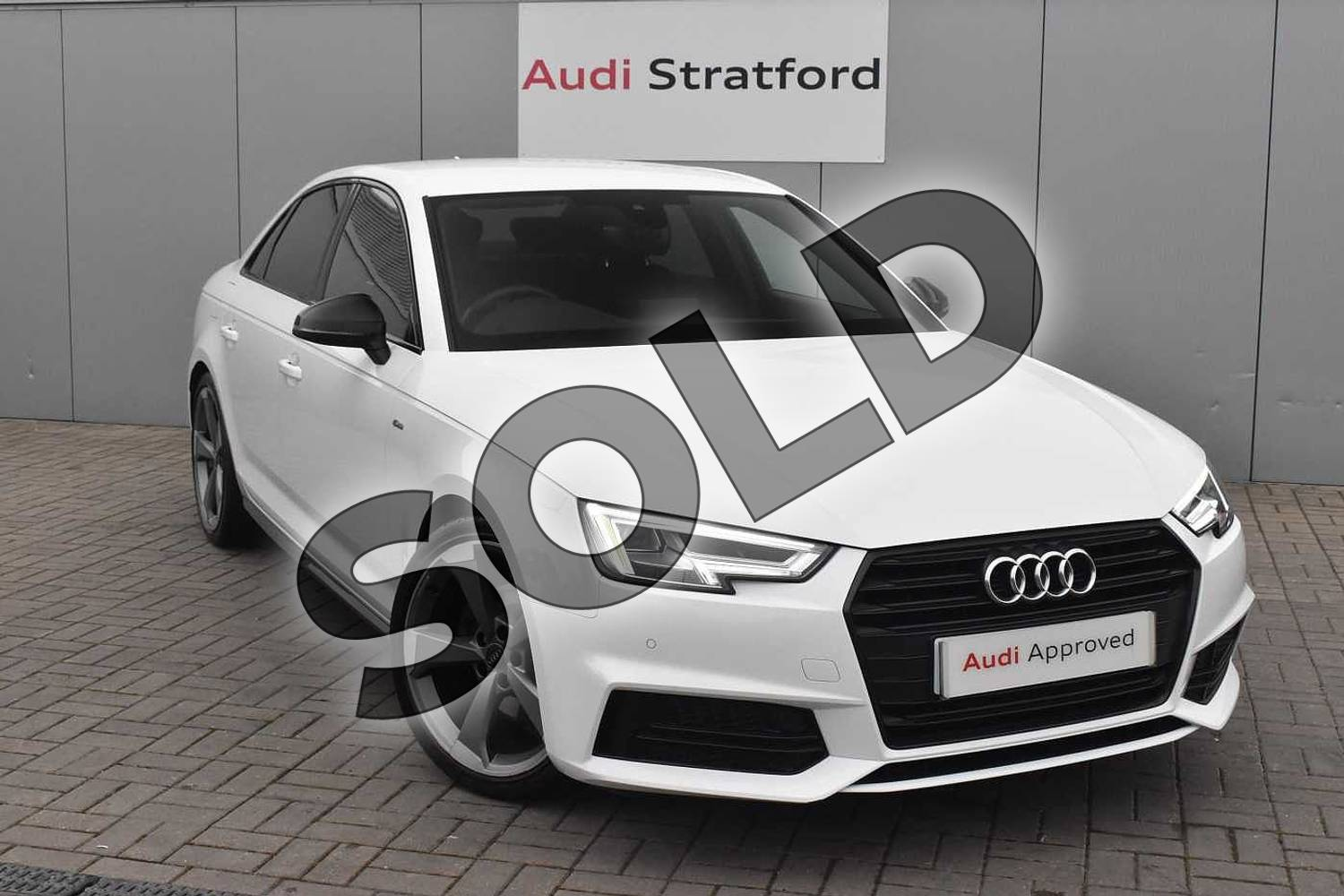 2018 Audi A4 Saloon Special Editions 1.4T FSI Black Edition 4dr in Ibis White at Stratford Audi