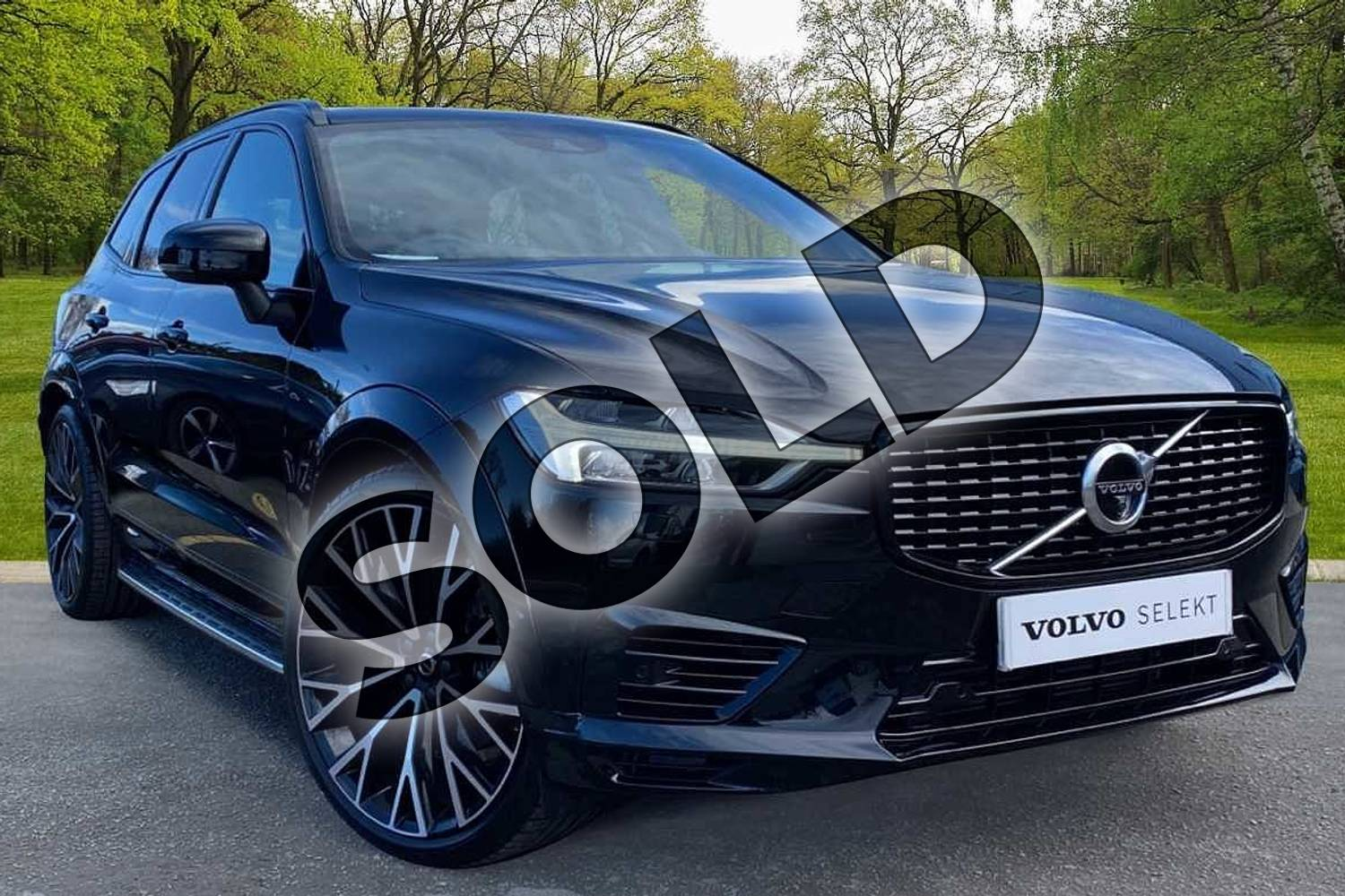 2021 Volvo XC60 Estate 2.0 T8 Recharge PHEV R DESIGN Pro 5dr AWD Auto in Onyx Black at Listers Volvo Worcester
