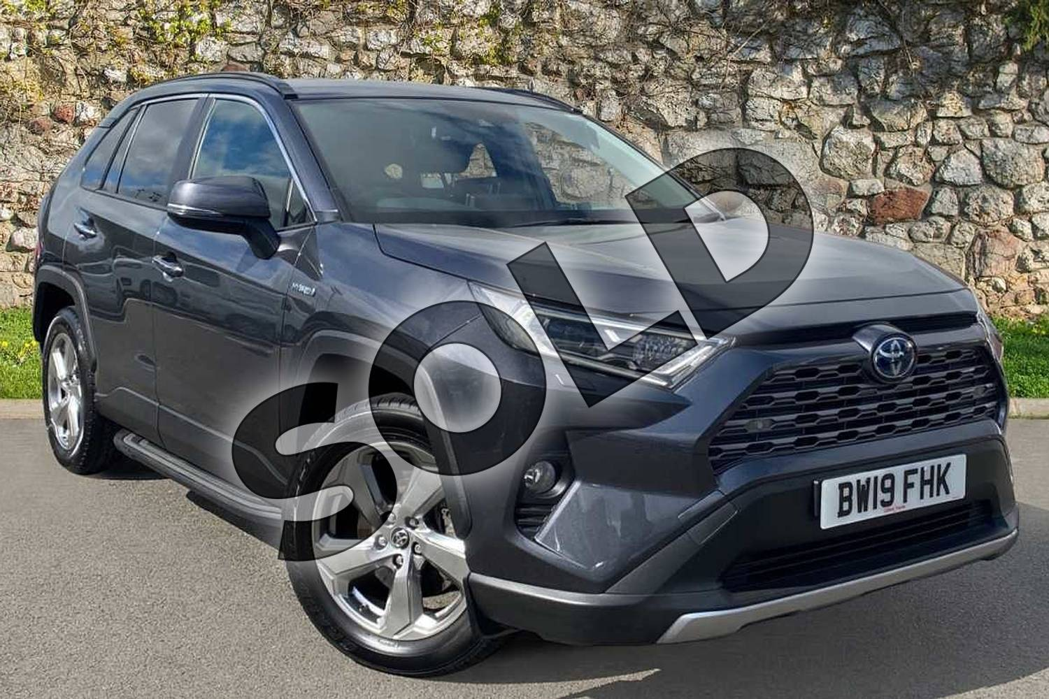 2019 Toyota RAV4 Estate 2.5 VVT-i Hybrid Excel 5dr CVT 2WD in Grey at Listers Toyota Coventry