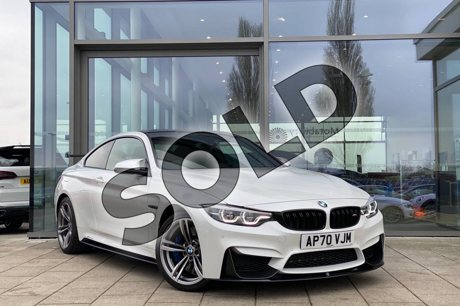 2021 BMW M4 Series M4 Coupe in Mineral White at Listers King's Lynn (BMW)