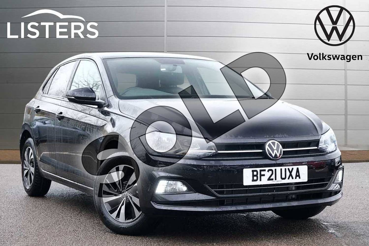 2021 Volkswagen Polo Hatchback 1.0 TSI 95 Match 5dr in Deep Black at Listers Volkswagen Leamington Spa