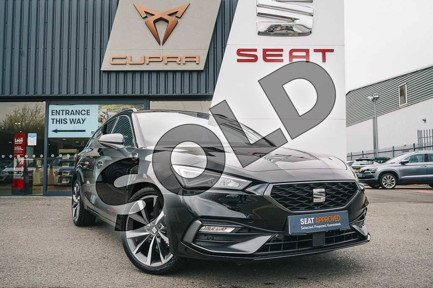 2021 SEAT Leon Estate 1.5 eTSI 150 FR Sport 5dr DSG in Black at Listers SEAT Coventry