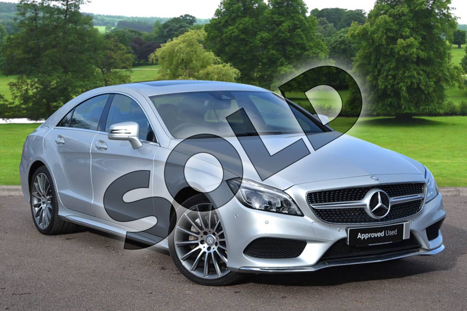 2015 Mercedes-Benz CLS Diesel Coupe CLS 350 BlueTEC AMG Line Premium 4dr 9G-Tronic in Iridium Silver Metallic at Mercedes-Benz of Grimsby