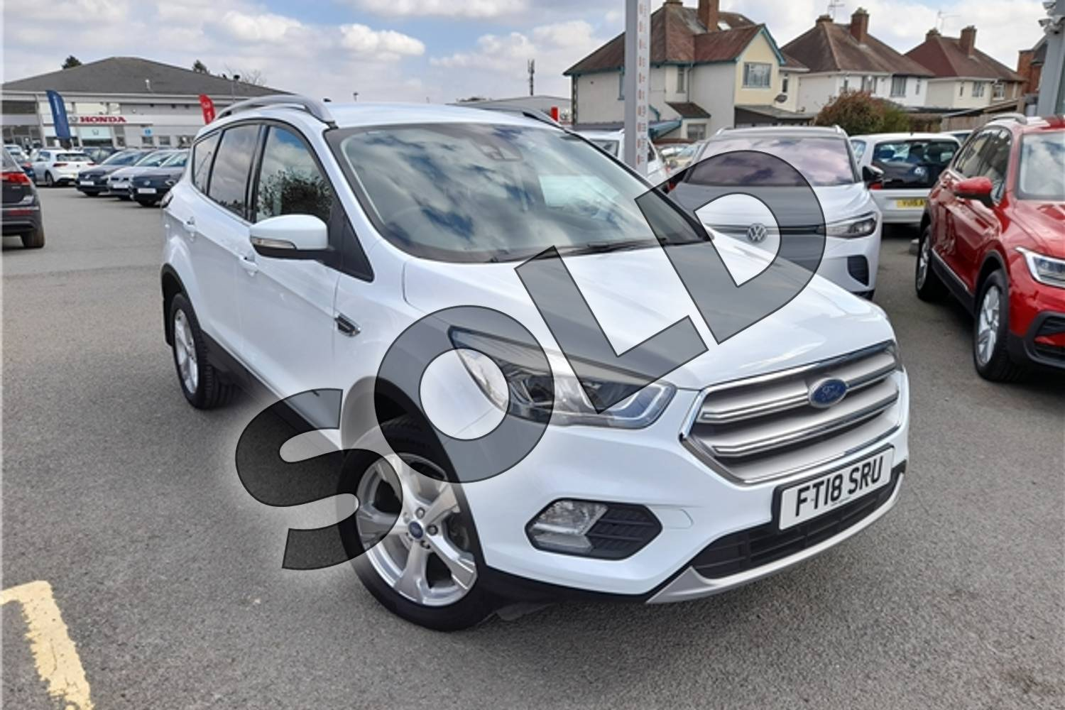2017 Ford Kuga Diesel Estate 2.0 TDCi 180 Titanium 5dr Auto in Special solid - Frozen white at Listers Volkswagen Worcester