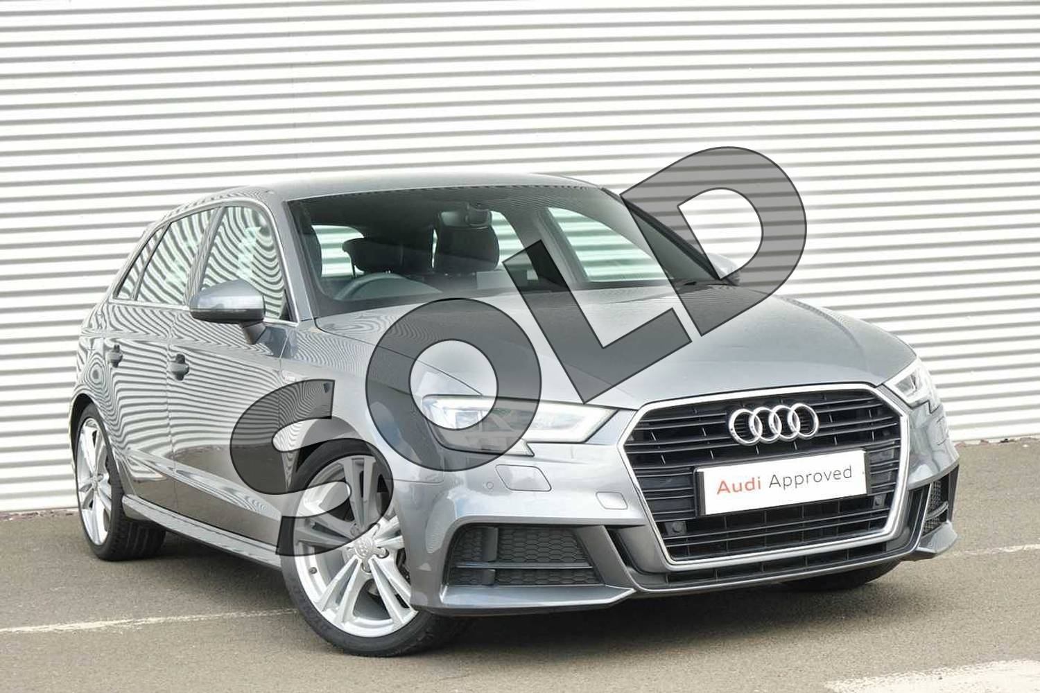 2017 Audi A3 Sportback 1.4 TFSI S Line 5dr S Tronic in Monsoon Grey Metallic at Coventry Audi