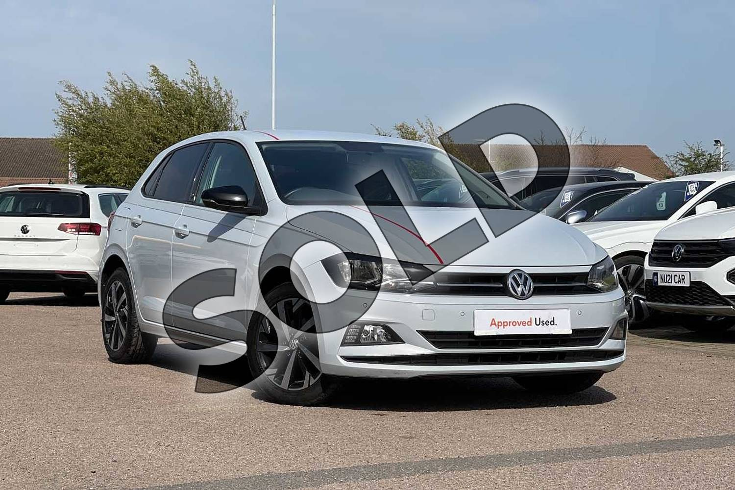2018 Volkswagen Polo Hatchback 1.0 TSI 95 Beats 5dr in White Silver at Listers Volkswagen Loughborough