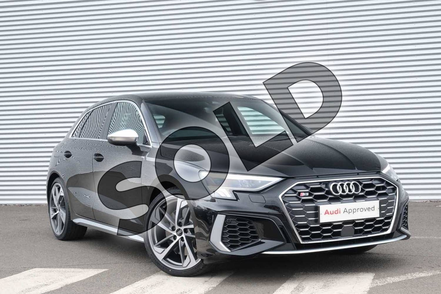2021 Audi A3 Sportback S3 TFSI Quattro 5dr S Tronic in Myth Black Metallic at Coventry Audi