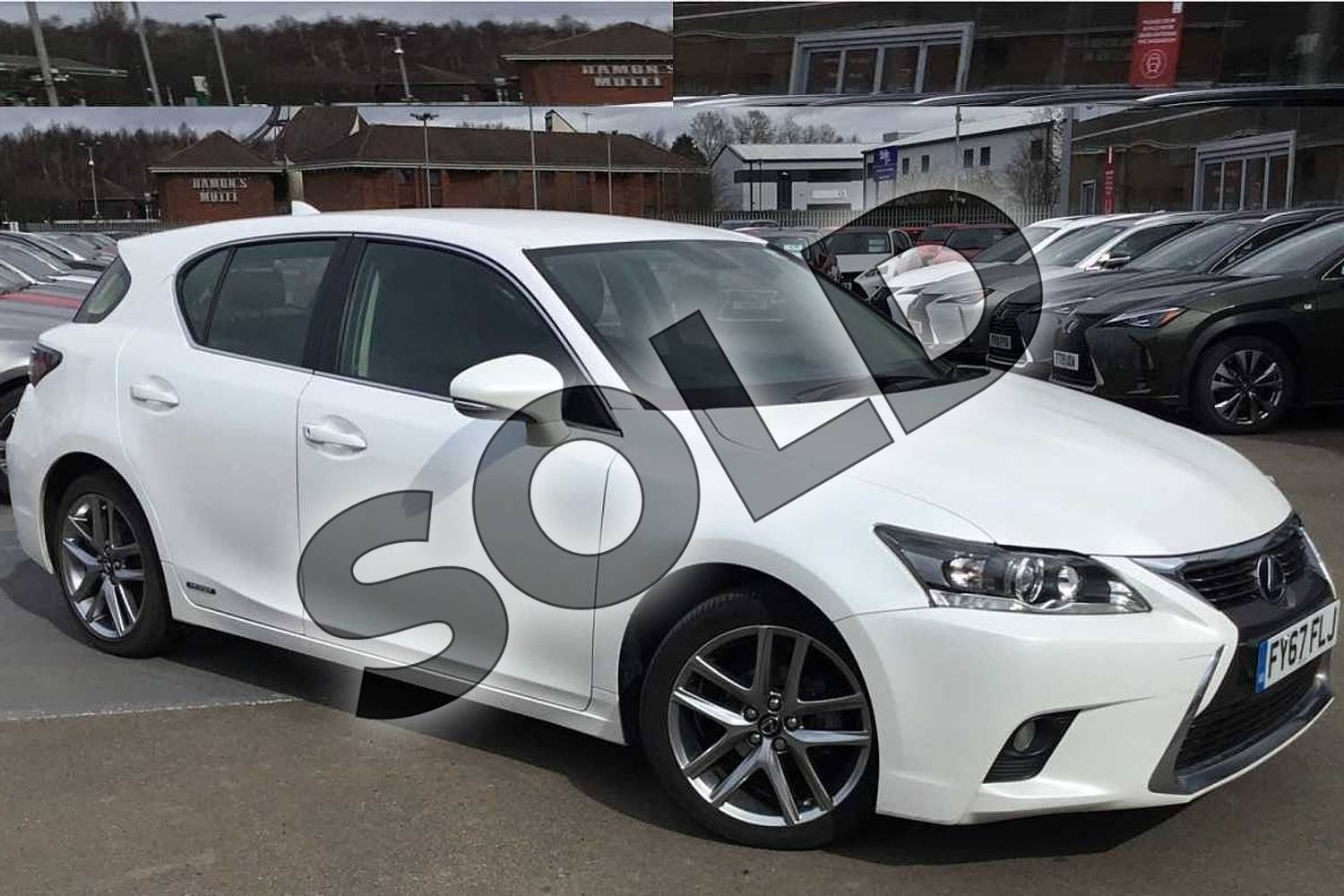 2017 Lexus CT Hatchback 200h 1.8 Executive Edition 5dr CVT Auto in Sonic White at Lexus Lincoln