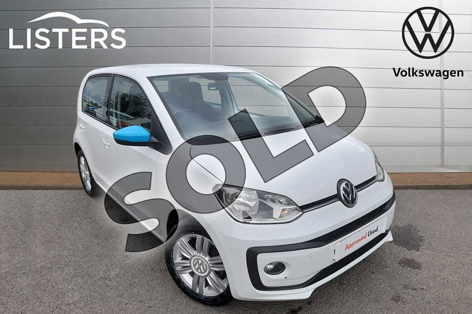 2018 Volkswagen Up Hatchback 1.0 High Up 5dr in Pure White at Listers Volkswagen Worcester