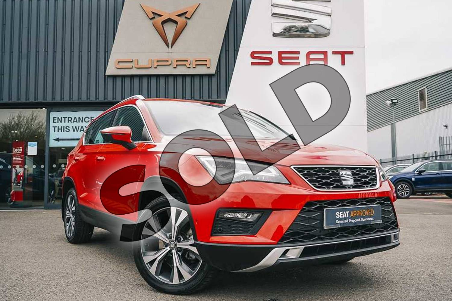 2019 SEAT Ateca Diesel Estate 2.0 TDI SE Technology (EZ) 5dr in Red at Listers SEAT Coventry