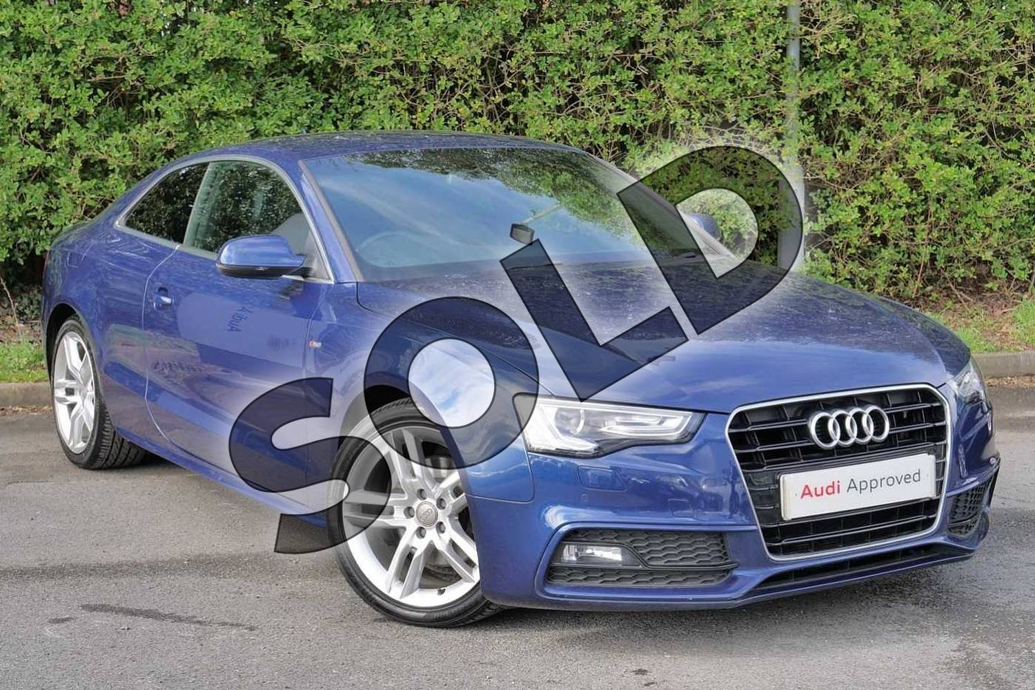 2016 Audi A5 Diesel Coupe 2.0 TDI 190 S Line 2dr Multitronic (Nav) in Scuba Blue Metallic at Worcester Audi