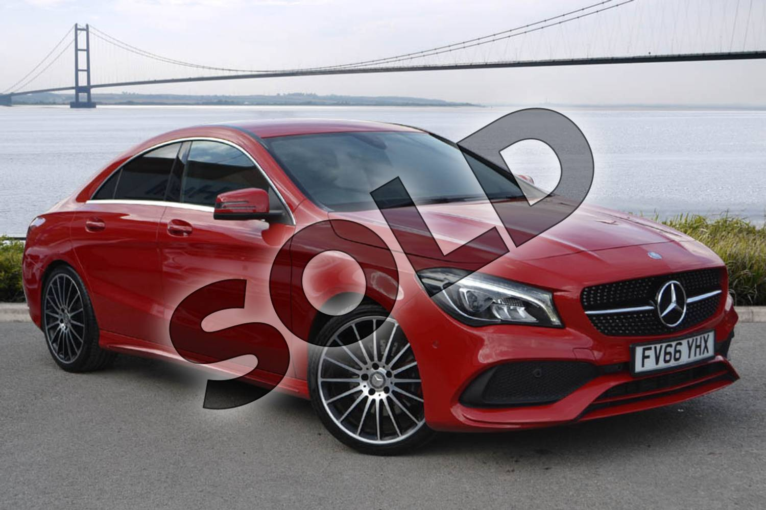 2017 Mercedes-Benz CLA Coupe CLA 250 AMG 4dr Tip Auto in jupiter red at Mercedes-Benz of Hull