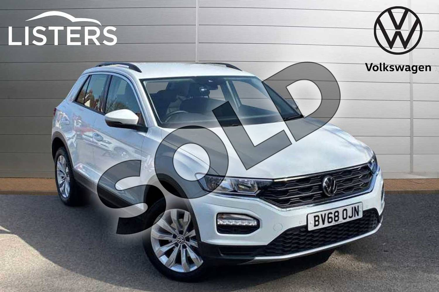 2019 Volkswagen T-Roc Diesel Hatchback 1.6 TDI SE 5dr in Pure White at Listers Volkswagen Coventry