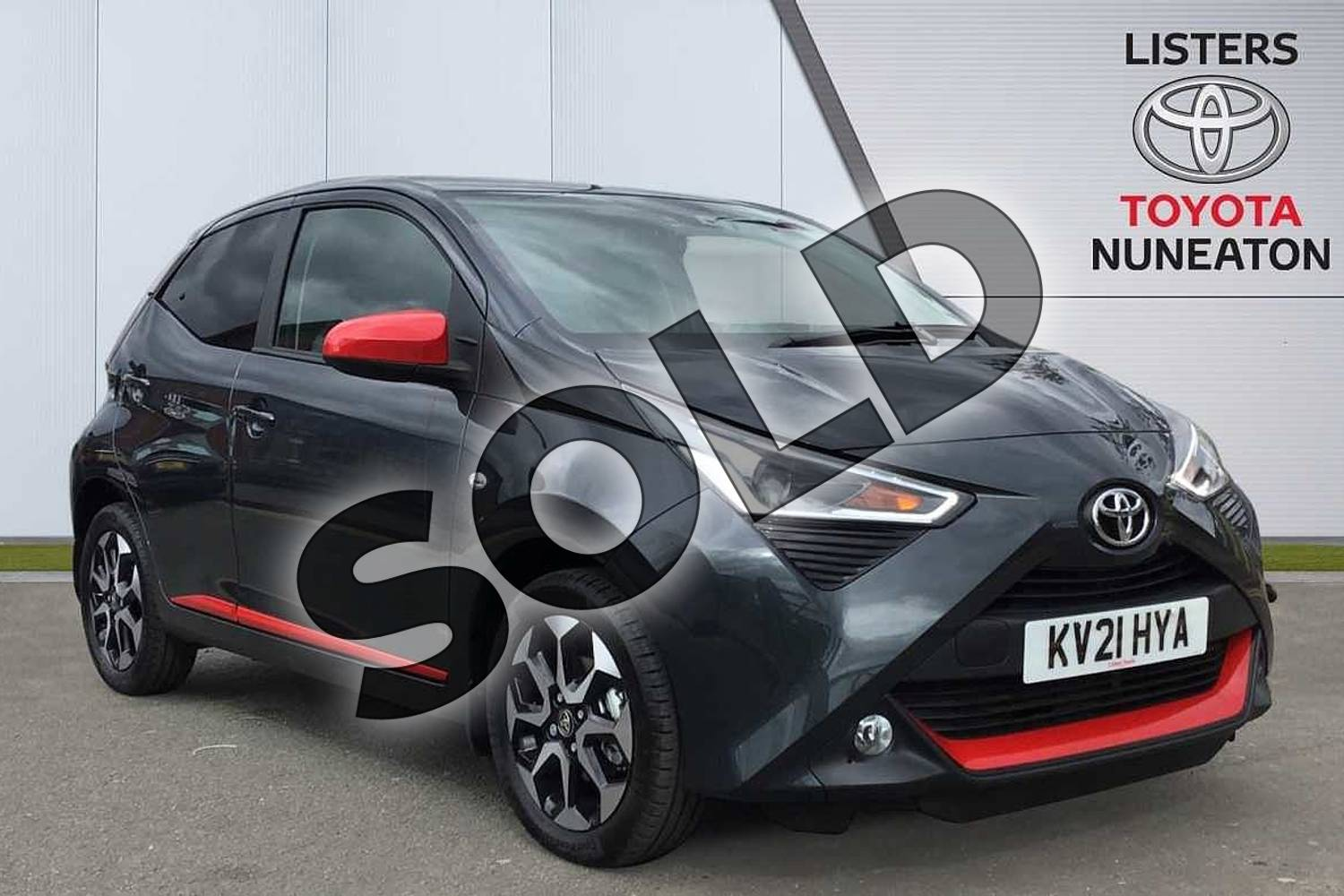2021 Toyota Aygo Hatchback 1.0 VVT-i X-Trend TSS 5dr x-shift in Grey at Listers Toyota Nuneaton
