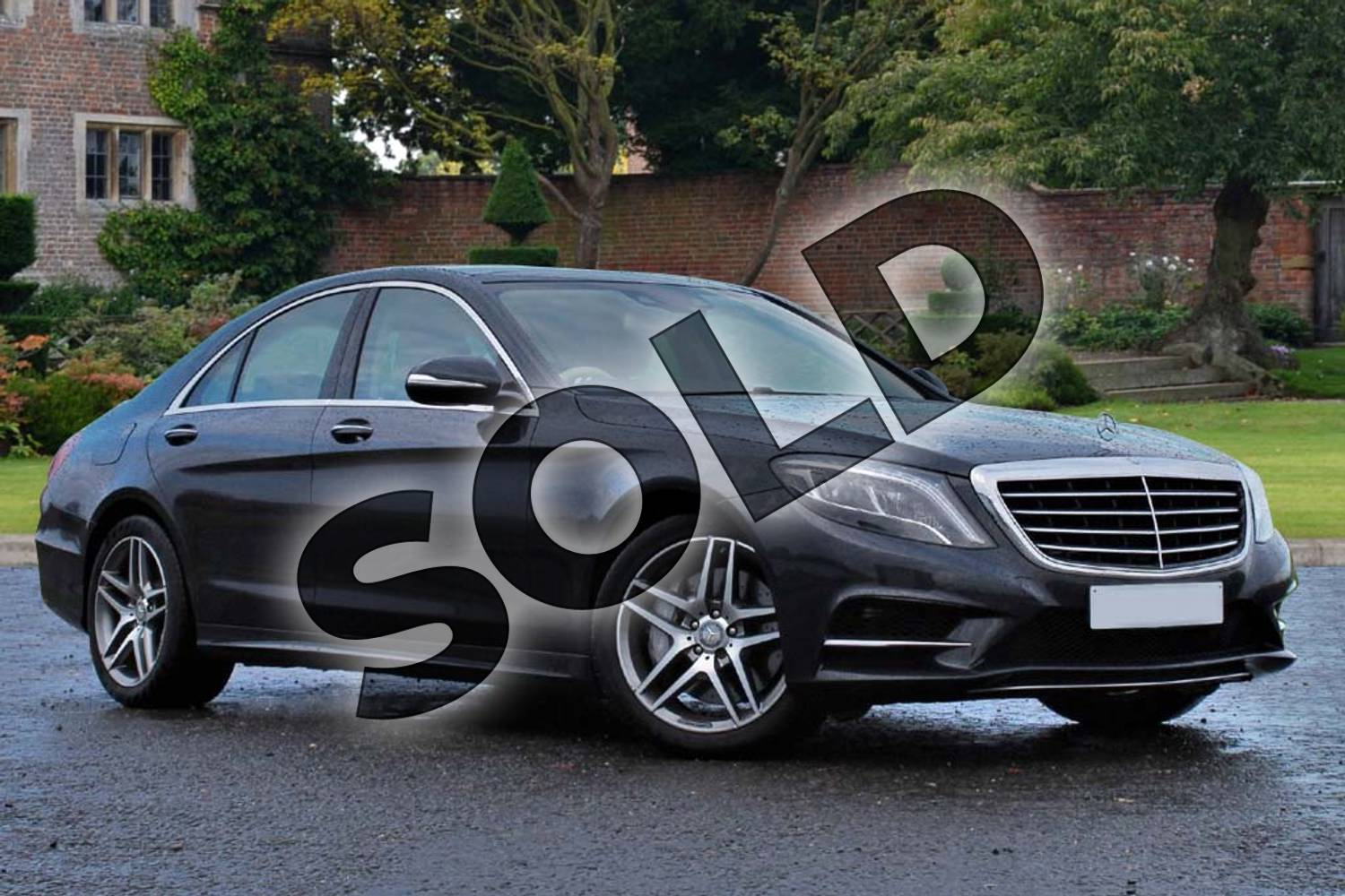 2015 Mercedes-Benz S Class Diesel Saloon S350 BlueTEC AMG Line 4dr Auto in Anthracite blue metallic at Mercedes-Benz of Lincoln